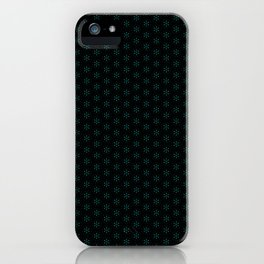 small star shapes pattern on the deep background iPhone Case