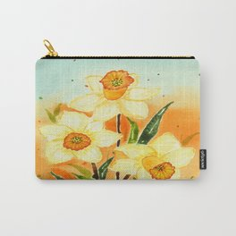 Yellow Daffodils Watercolor Design Carry-All Pouch