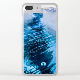 The crack of Baikal ice Clear iPhone Case