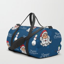 Santa and Snowman Duffle Bag
