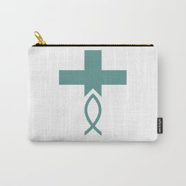 Jesus Fish Cross Symbol of Christianity Carry-All Pouch