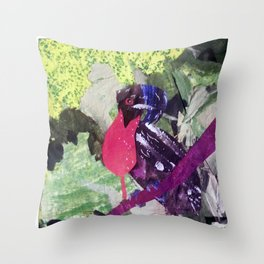Paper Umbrella Bird Throw Pillow
