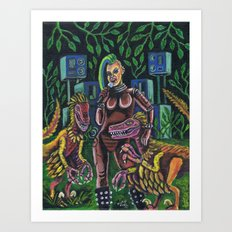 She Sings to the Birds Art Print