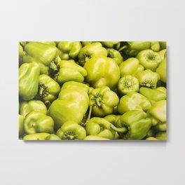 Lots of green peppers Metal Print