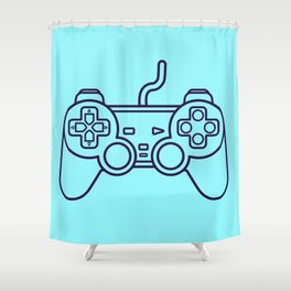 Playstation 1 Controller - Retro Style! Shower Curtain