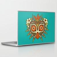 majora Laptop & iPad Skins featuring Tiki Majora by Paula García