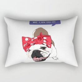 We Can Do it! Rosie the Bulldog Rectangular Pillow