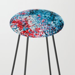 Demonic Toy Poodle Abstract Counter Stool