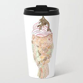 Watercolor Taiyaki Ice Cream Fish Travel Mug