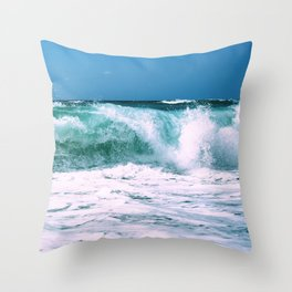 Sea wave. Throw Pillow