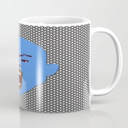 blue man screaming face rudeink art work Coffee Mug
