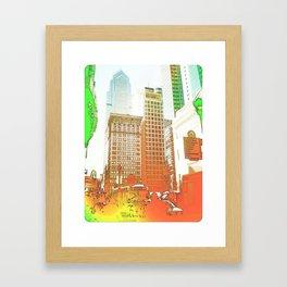 """""""Main street"""" Framed Art Print"""