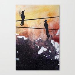 Bird Chat Canvas Print
