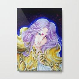 Aries knight Mu, by Suki Manga Art Metal Print
