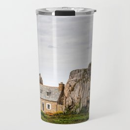 House between rocks in Brittany, Castel Meur Travel Mug