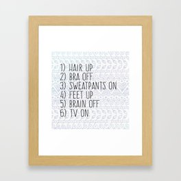 College Things Framed Art Print