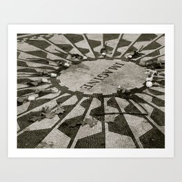 Strawberry Fields, Central Park, New York City, New York Art Print