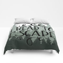 I Read to Escape (Trees) Comforters