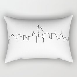One Line - New York Skyline Rectangular Pillow
