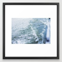 Waves on waves Framed Art Print