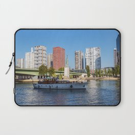Statue of Liberty and beaugrenelle district - Paris, France Laptop Sleeve