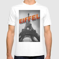 Eiffel White Mens Fitted Tee SMALL