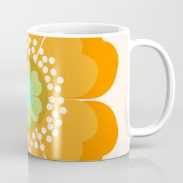 Jivin' - 70's retro throwback art floral flower motif decor hipster Coffee Mug