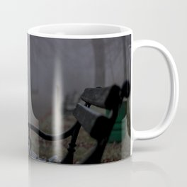 Misty forest park in Subotica Coffee Mug