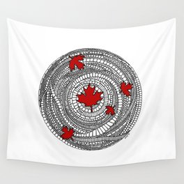 Canadian Maple Red Wall Tapestry
