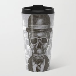 Worked To Death (Grey version) Travel Mug