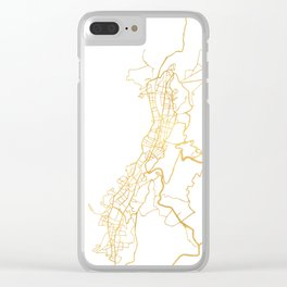 QUITO ECUADOR CITY STREET MAP ART Clear iPhone Case