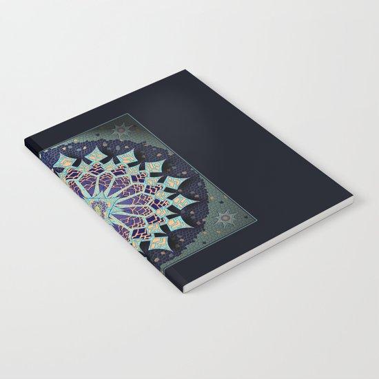 Mosaic Mandala in Blue Notebook