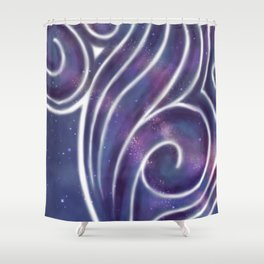Painting On Stars Shower Curtain