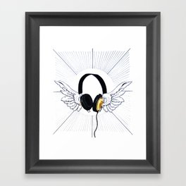 Heavenly sounds Framed Art Print