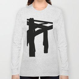 black an white Long Sleeve T-shirt