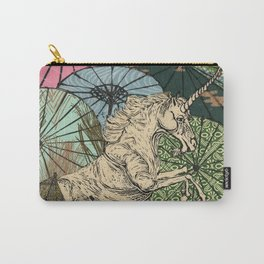 Unicorn Amongst Umbrellas IX Carry-All Pouch