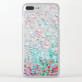 Weeping Cherry Field Clear iPhone Case