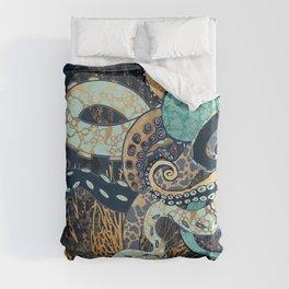 Metallic Octopus II Duvet Cover