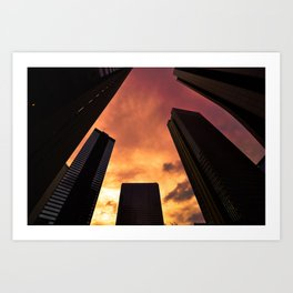 Sunset in Downtown Tokyo Art Print