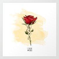 Rose body Art Print