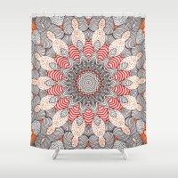 mandala Shower Curtains featuring manDala by Monika Strigel