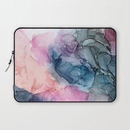 Heavenly Pastels: Original Abstract Ink Painting Laptop Sleeve