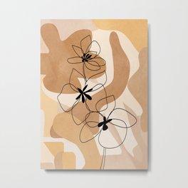 Elegant Flowers Metal Print