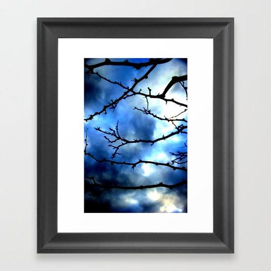 Storm Warning Framed Art Print