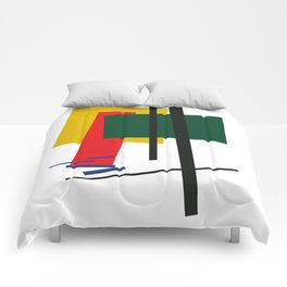 Geometric Abstract Malevic #6 Comforters