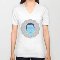 michael scott V-neck T-shirts featuring Michael Scott - The Office by Kuki