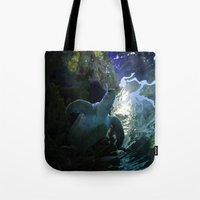 sea turtle Tote Bags featuring Turtle by Rose&BumbleBee