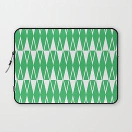 Mid Century Modern Diamond Pattern Green 234 Laptop Sleeve