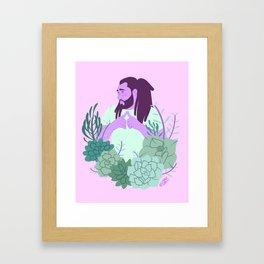 Bashful Boy Framed Art Print