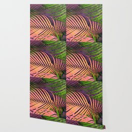 TROPICAL COLORFUL POPPY LEAVES Wallpaper